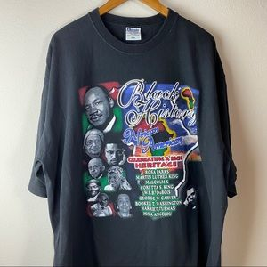 Other - 3XL Vintage All Over Print Black History Tee